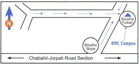 LOCATION TO BOUDHA CAMPUS